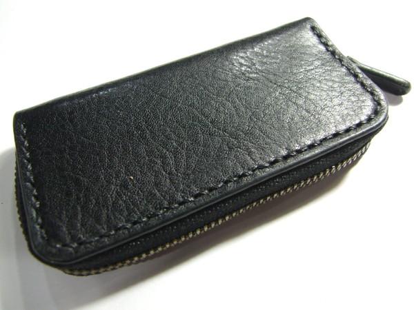 黒のファスナーコインケース-1
