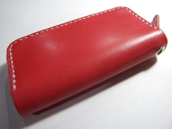 ピンクのファスナーコインケース-2