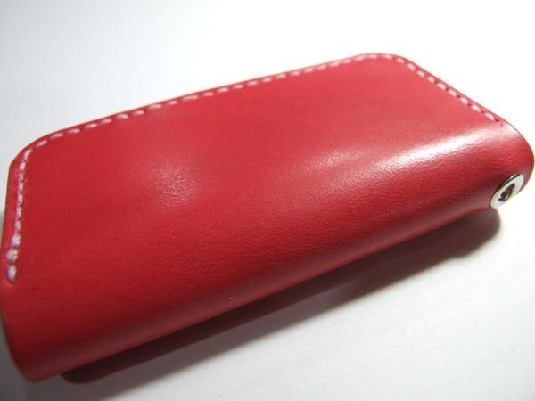 ピンクのファスナーキーケース-2