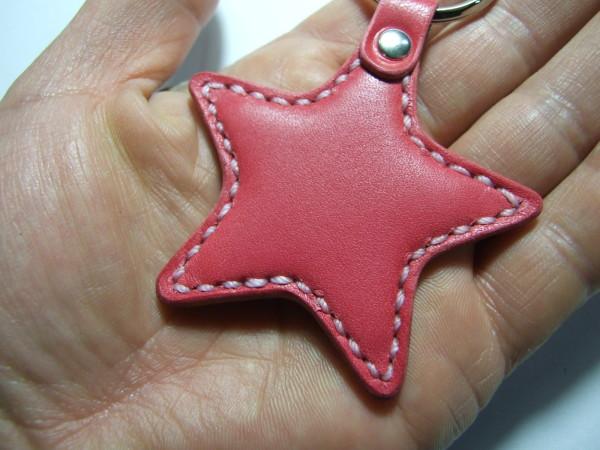 星のキーホルダー ピンク