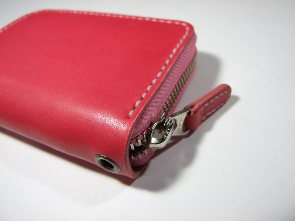 ファスナーカードケース ピンク-1