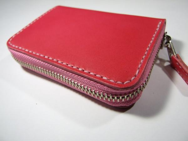 ファスナーカードケース ピンク-2