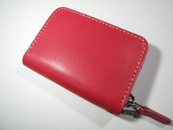 ファスナーカードケース ピンク