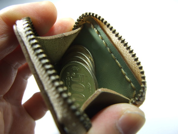 ミニファスナーコインケース ミントグリーン-2