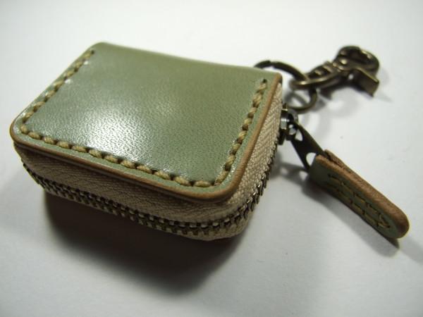 ミニファスナーコインケース ミントグリーン