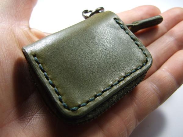 ミニファスナーコインケース オリーブ-3