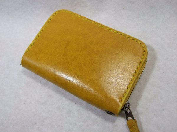 カードも入る黄色のファスナーコインケース ルガトショルダー-1