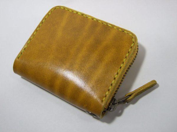 スクエアファスナーコインケース ルガトショルダー黄色-1