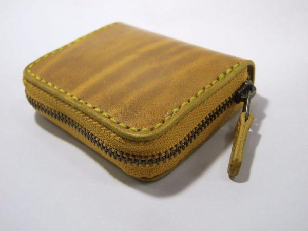 スクエアファスナーコインケース ルガトショルダー黄色-2