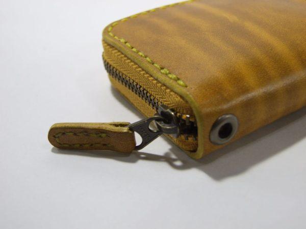 スクエアファスナーコインケース ルガトショルダー黄色-3