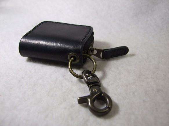 ミニファスナーコインケース 黒-2