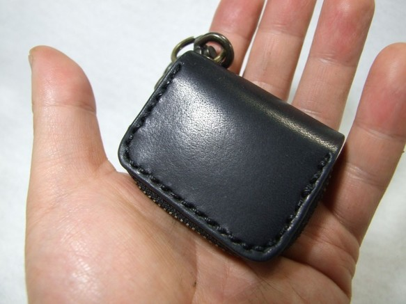 ミニファスナーコインケース 黒